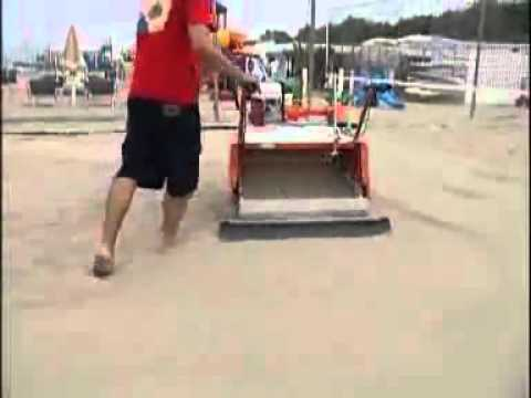 beach cleaning machines, sand beaches racecourses golf links cleaners   PFG Italy