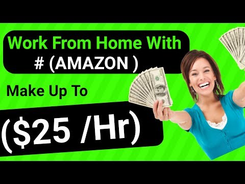 Work From  Home Jobs With Amazon – Make # $25 Per HOUR Work From Home Jobs (Without Investment)