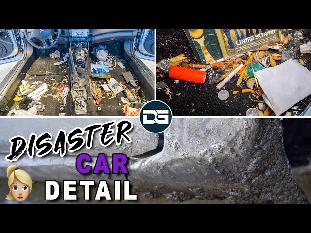 Deep Cleaning a SMOKER'S Dirty Car | DISASTER Car Detailing & Complete Vehicle Transformation! thumbnail