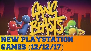 New PlayStation Games for December 12th 2017