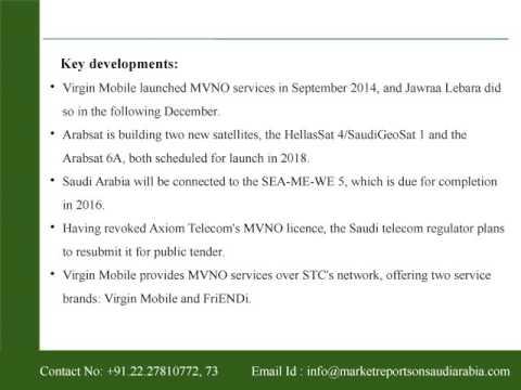 Saudi Arabia - Telecoms, Mobile and Broadband