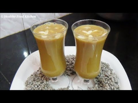 Paruthi Paal Recipe-Cotton Seeds Milk Recipe-Indian Beverages By Healthy Food Kitchen