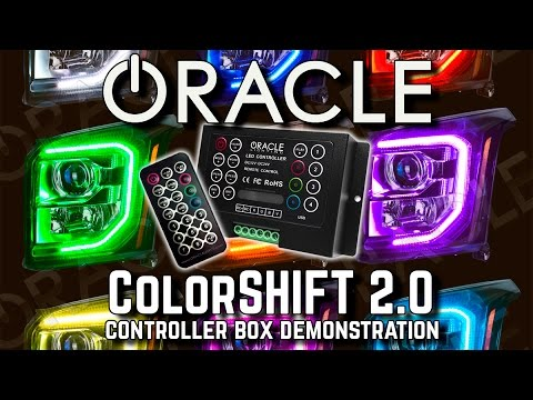 ORACLE ColorSHIFT 2.0 Controller Box DEMO - Patterns, Modes & Order