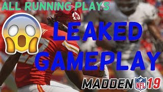 MADDEN 19 ALL LEAKED RUNNING PLAYS GAMEPLAY! (PS4 GAMEPLAY) *EXCLUSIVE