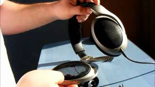 HD 555 Soundstage mod (and crack detail)