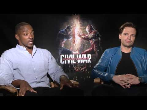 Captain America: Civil War Interview - Anthony Mackie and Sebastian Stan