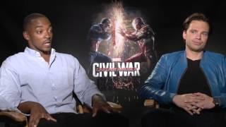 Captain America: Civil War Interview - Anthony Mackie and Sebastian Stan