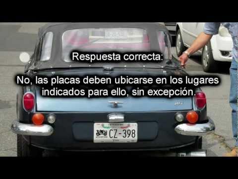 Preguntas de examen para obtención de licencia de conducir (Primera Parte)