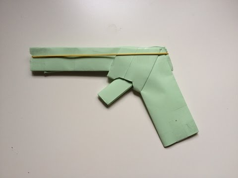 How To Make A Paper Gun That Shoots Rubber Bands (With Trigger). (Easy) (HD)