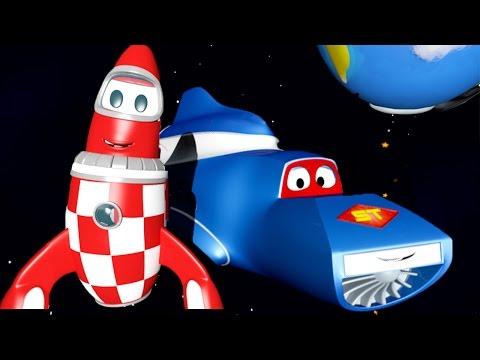 Carl si Truk Super dan Si Roket di Kota Mobil | Kartun Mobil & Truk Kontruksi (untuk anak-anak)