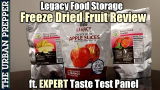 Legacy Food Storage FRUITS Review (ft. EXPERT Taste Test Panel)