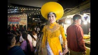 Lô Tô show 20/7: Thanh Vàng bung áo dài 8m. Phi Thanh Vân bắn tiếng Anh trôi chảy.