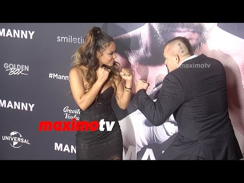 Christina Milian, Lizzy Milian, Chuck Liddell | MANNY Premiere | Red Carpet