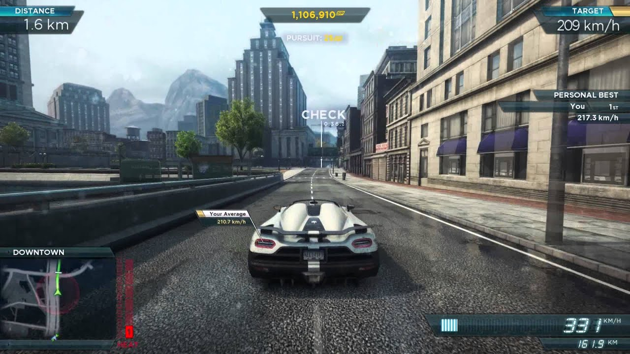 NFS Most Wanted 2012 Koenigsegg Agera R 1080p YouTube