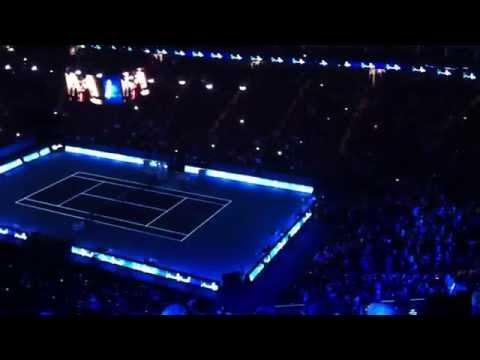 ATP World Tour Finals 2014 - Roger Federer vs Kei Nishikori - Entrance