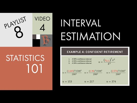 Statistics 101: Estimating Sample Size Requirements video