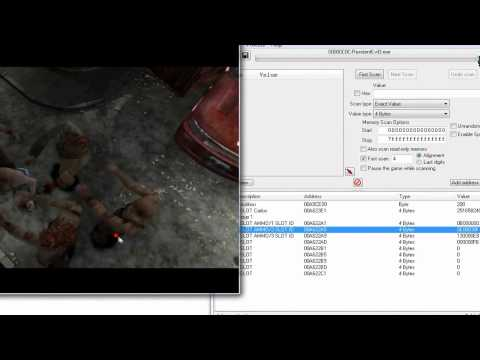 Resident Evil 3 PC - Cheat Engine - Item Modifier in HEX