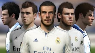 Gareth Bale from FIFA 07 to 17