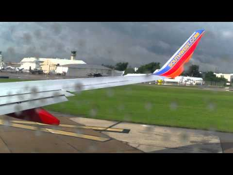 Southwest Airlines Boeing 737-700 Winglets take off from Houston Hobby Airport