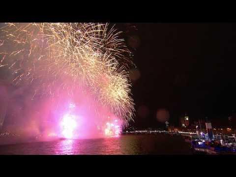 Новогодний фейерверк в Лондоне 2014! HDTV 1080i
