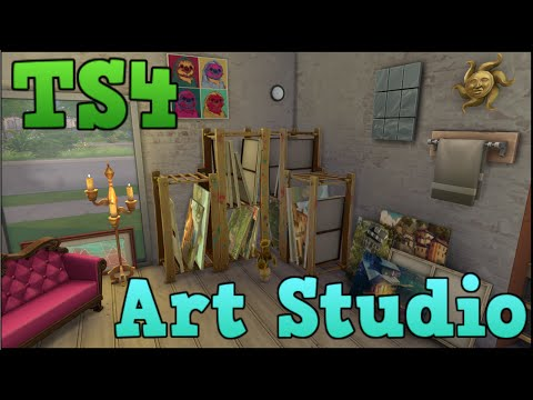 the sims 4 styled rooms: art studio youtube