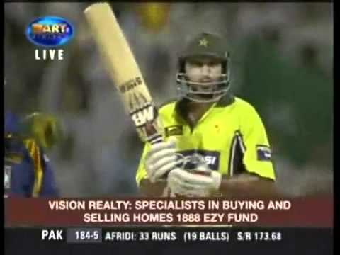 Shahid Afridi Hits 446666 32 Runs in Over