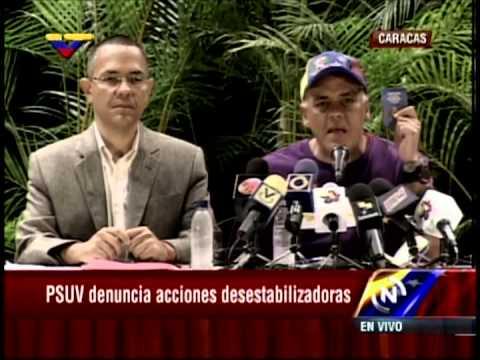 Rueda de prensa completa de Jorge Rodríguez mostrando audio de María Corina Machado