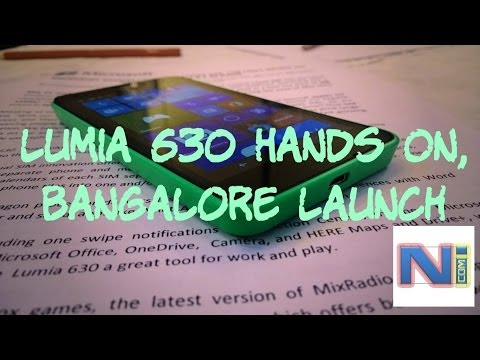 Lumia 630 Hands On, At Microsoft Launch Event in Bangalore, India