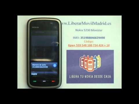 Liberar Nokia 5230 Movistar por Código IMEI - www.LiberarMovilMadrid.es