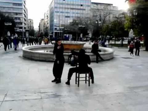 Ametakinit(R)o Dance Team Protest in Syntagma Square 19th of February 2013