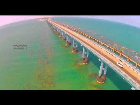Pamban Bridge Aerial Video