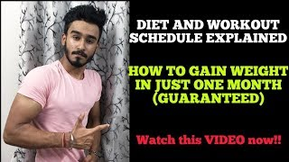 HOW TO GAIN WEIGHT FAST NATURALLY (HINDI)   BEST VIDEO FOR ECTOMORPHS   SCIENTIFICALLY EXPLAINED