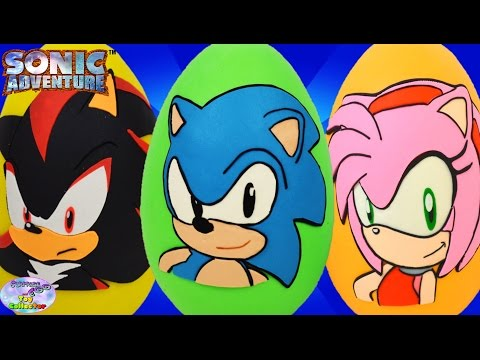 Sonic The Hedgehog Giant Play Doh Surprise Eggs Compilation Episode Amy Shadow SETC