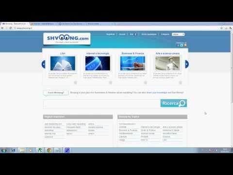 Aumentare visite al proprio Blog con Shvoong