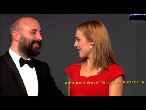 Halit Ergenc & Meryem Uzerli on stage...Full Award scene ''Man of the year'' 12/11/2014