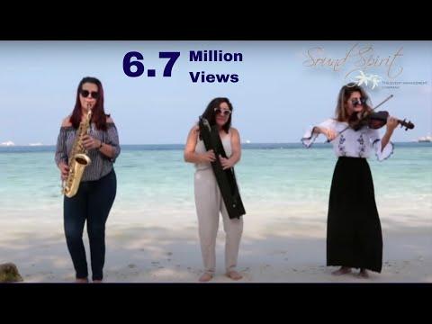 Despacito Cover (Harp, Saxophone & Violin) by Sound Spirit Trio. For Shows: +91 98207 46266