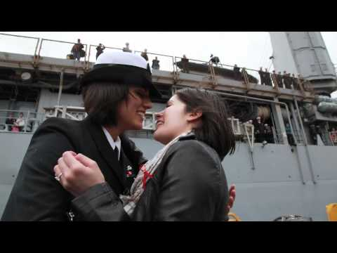 Navy First: Same-sex Couple Share First Kiss At Homecoming video