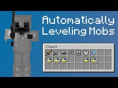 Leveling Mobs Mobs gear themselves up Minecraft Concept