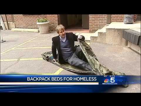 USA TV, NBC - Backpack Beds hit Chicago streets - Swags for Homeless - 3 May 2013
