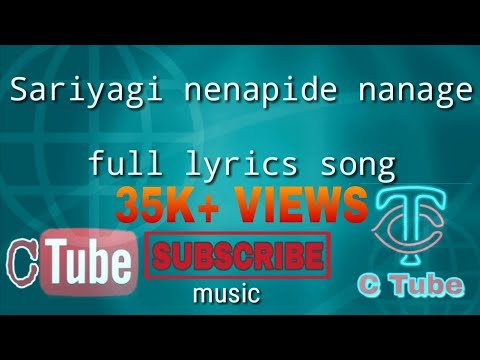 Sariyaagi Nenapide | Official HD lyrics song | Mungaru Male 2 | Ganesh, Neha Shetty | Armaan Malik