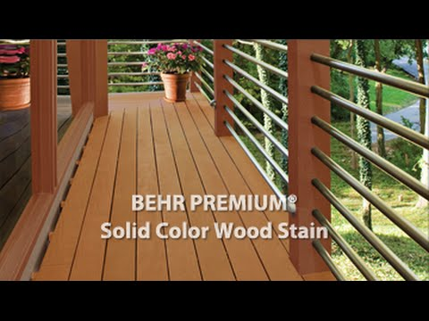 Premium solid color weatherproofing wood stain youtube for Exterior solid color wood stain