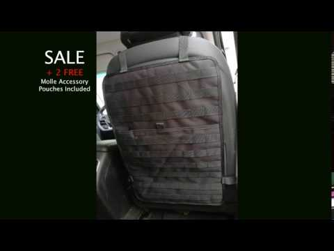 Tactical Car Seat Organizer With 2 FREE Molle Accessory Packs A