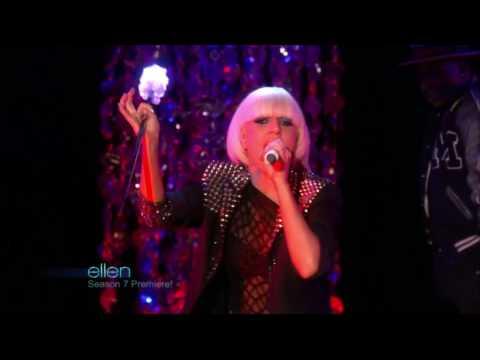 Lady GaGa - LoveGame (Ellen Disco Stick Intro + Musical Performance)