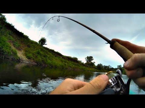 Голавли вырывают спиннинг из рук! Адреналин! Одиночный сплав-рыбалка по реке Быстрица