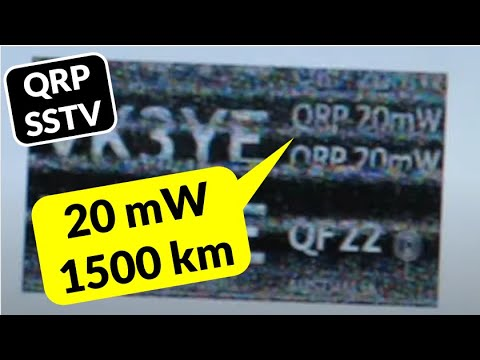Milliwatt QRP SSTV tests with VK4VJR's live SSTV cam