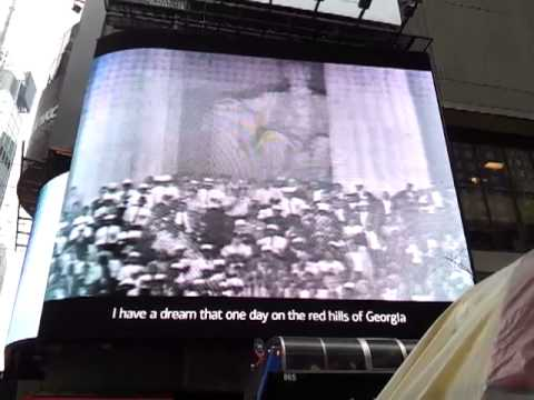 Martin Luther King's Dream Speech 50th Anniversary Times Sq NYC