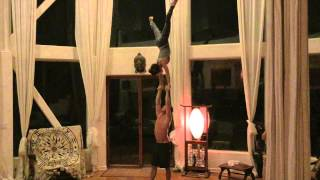 Sports Acro with Tari and Ari in the Malibu Mansion