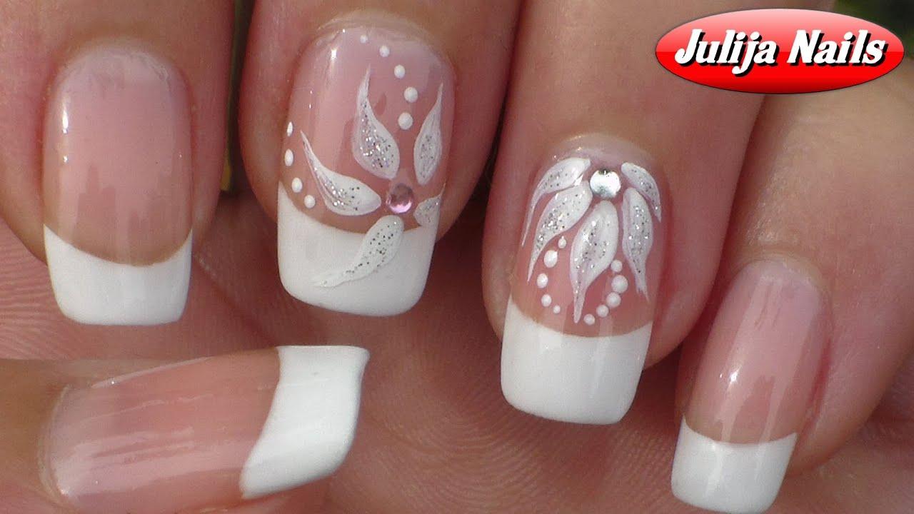 Самый красивый френч на ногтях с рисунком фото