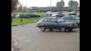 Joint meeting Volvo 300 club @ Volvo 480 register, naar Haags Openbaar Vervoer Museum