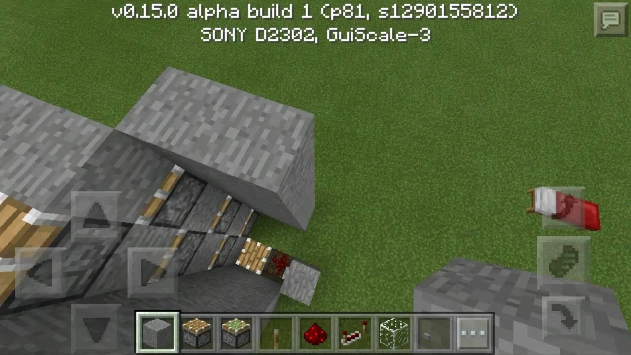 Как Сделать скоросной лифт с поршнями самый быстрый лифт с поршями в Minecraft pe 0.15.0 - YouTube